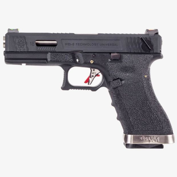 WE G18C T5 - BK SLIDE / SV BARREL / BK FRAME AIRSOFT TABANCA